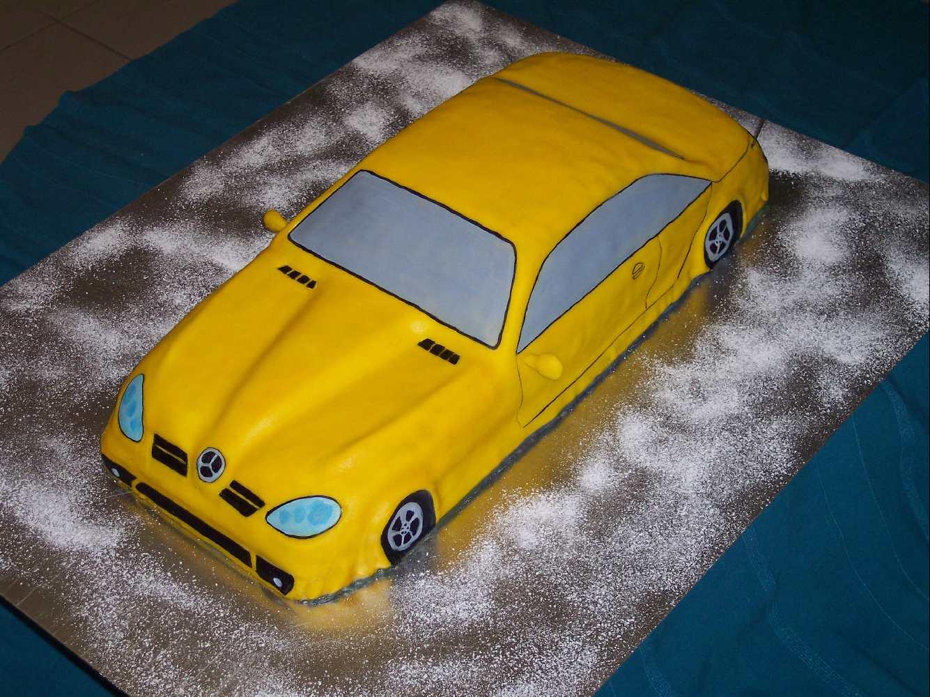 Torte Torten 3d Slk Auto Mercedes Jpg